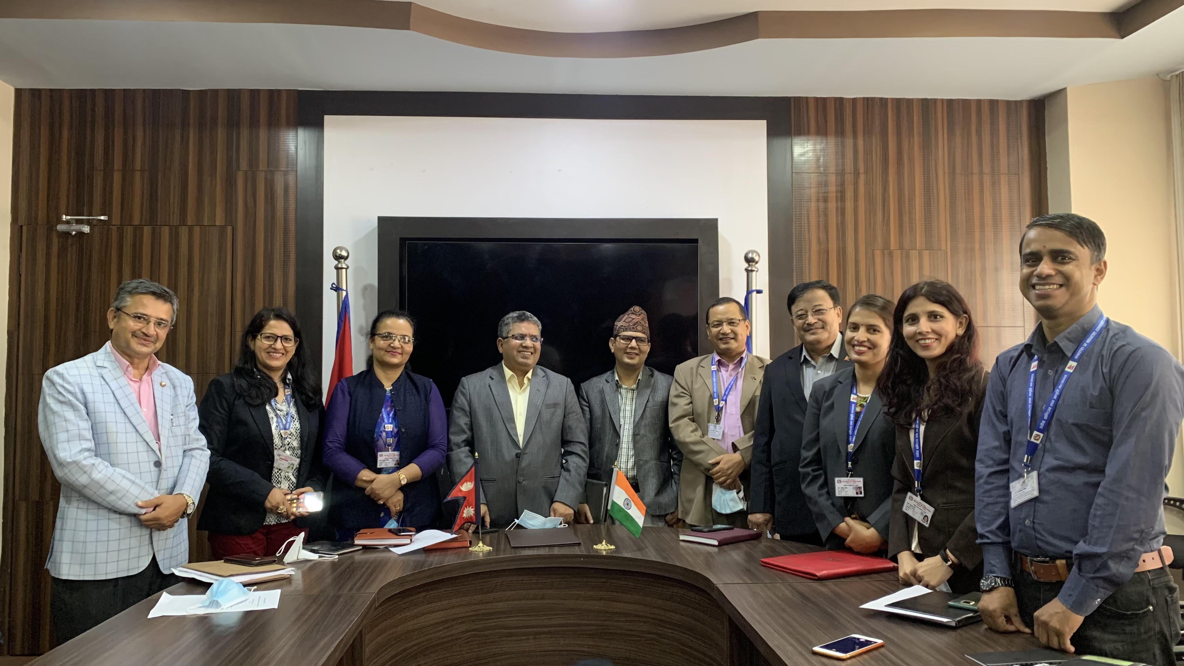 विध्यमान नेपाल भारत रेल सेवा सम्झौतामा संशोधन गर्नका लागि नेपाल सरकार र भारत सरकारका तर्फबाट हस्ताक्षर गरिएको Letter of Exchange (LoE) आदान प्रदान गरिएको छ ।
