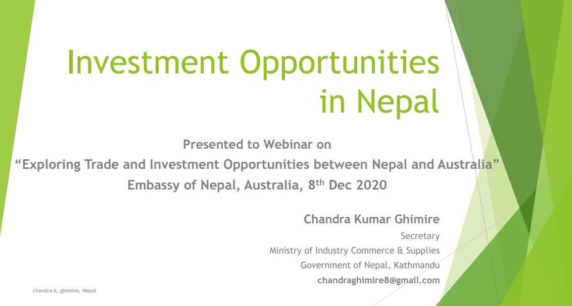 Investment Opportunities in Nepal.